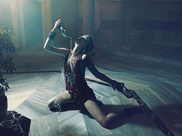 Kate Moss in Hammam by Mert Alas and Marcus Piggott for W Magazine