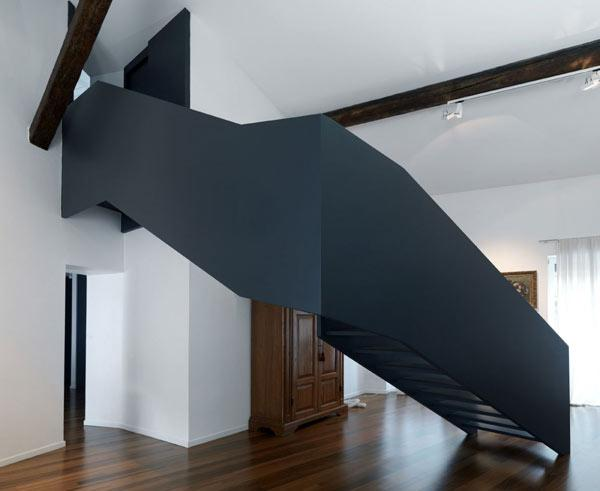 Artistic Focal Point Connecting The Living And The Attic   Freshome