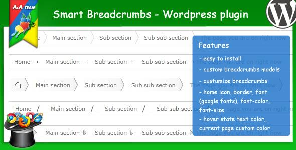 Plugins - Smart Breadcrumbs - Wordpress Plugin | CodeCanyon