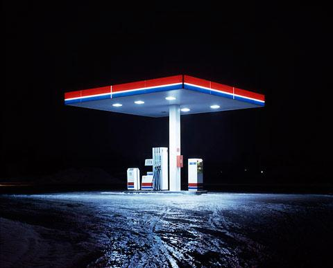 Cold Stations: photos of gas stations at night — Lost At E Minor: For creative people