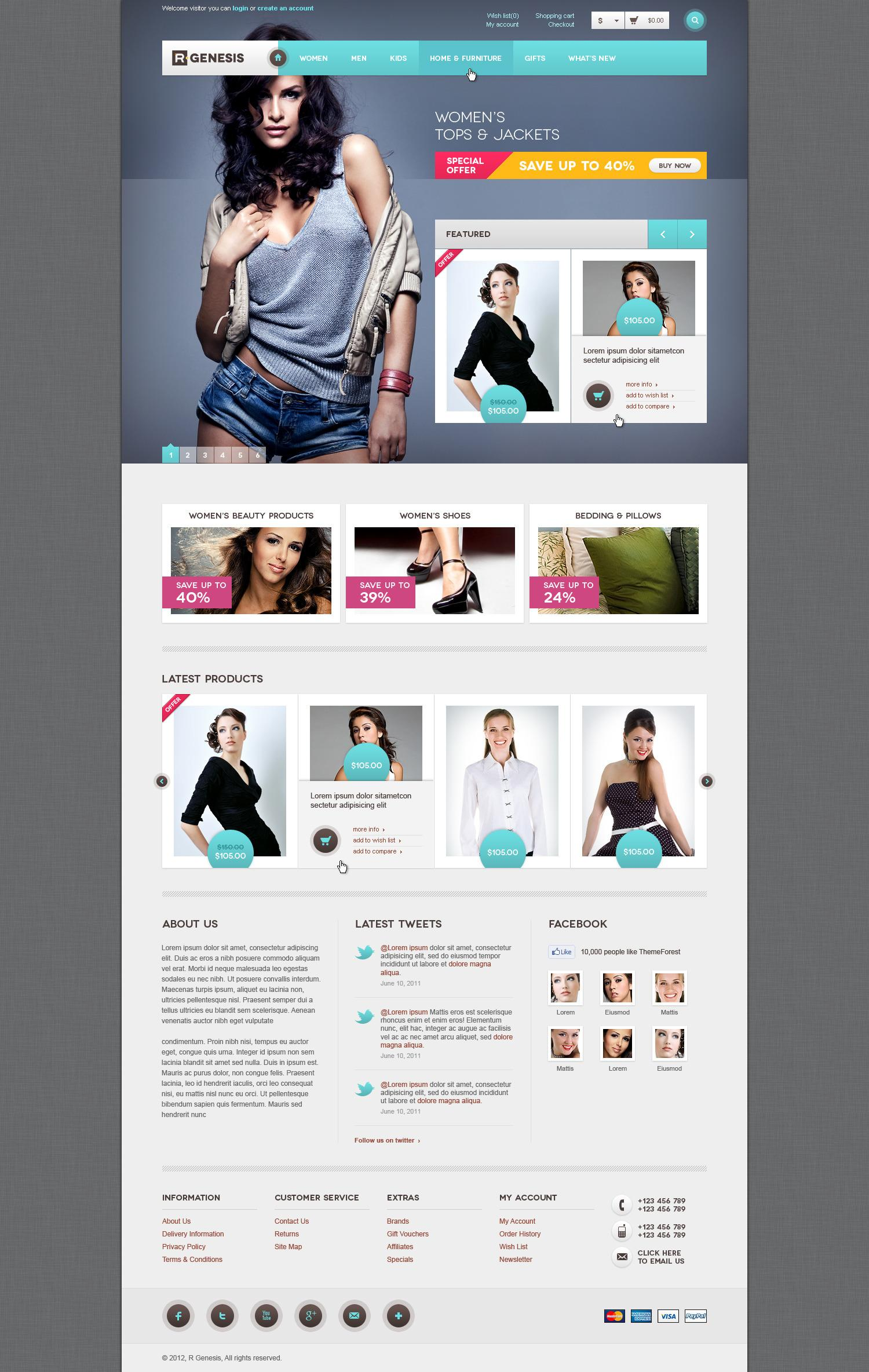 R.Gen - OpenCart Modern Store Design - ThemeForest Previewer