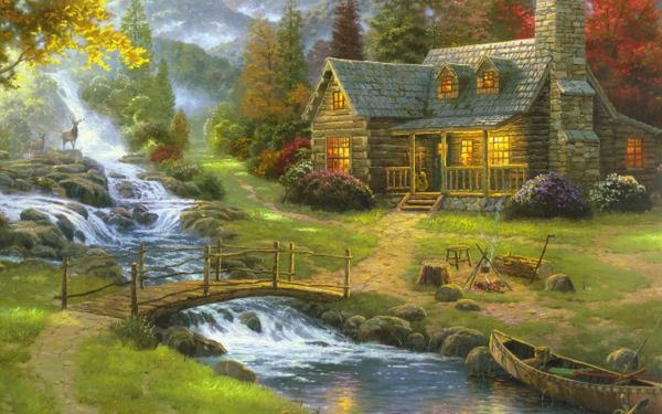artwork,houses houses artwork rivers 2560x1600 wallpaper – Houses Wallpaper – Free Desktop Wallpaper