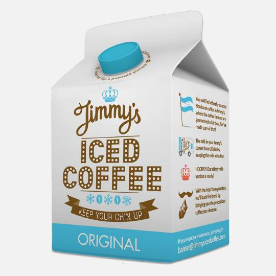 Jimmy's Iced Coffee packaging designed by Interabang | Feature Me | Feature Me