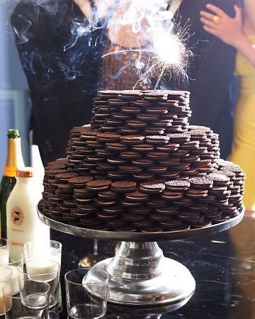 cake, champagne, milk, new years, oreo - inspiring picture on Favim.com