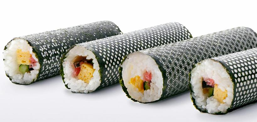 lasercut nori for designer sushi