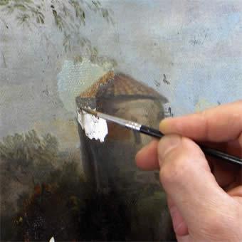 Restauration tableau d'antiquité - Restauration tableau hollandais 18e siècle