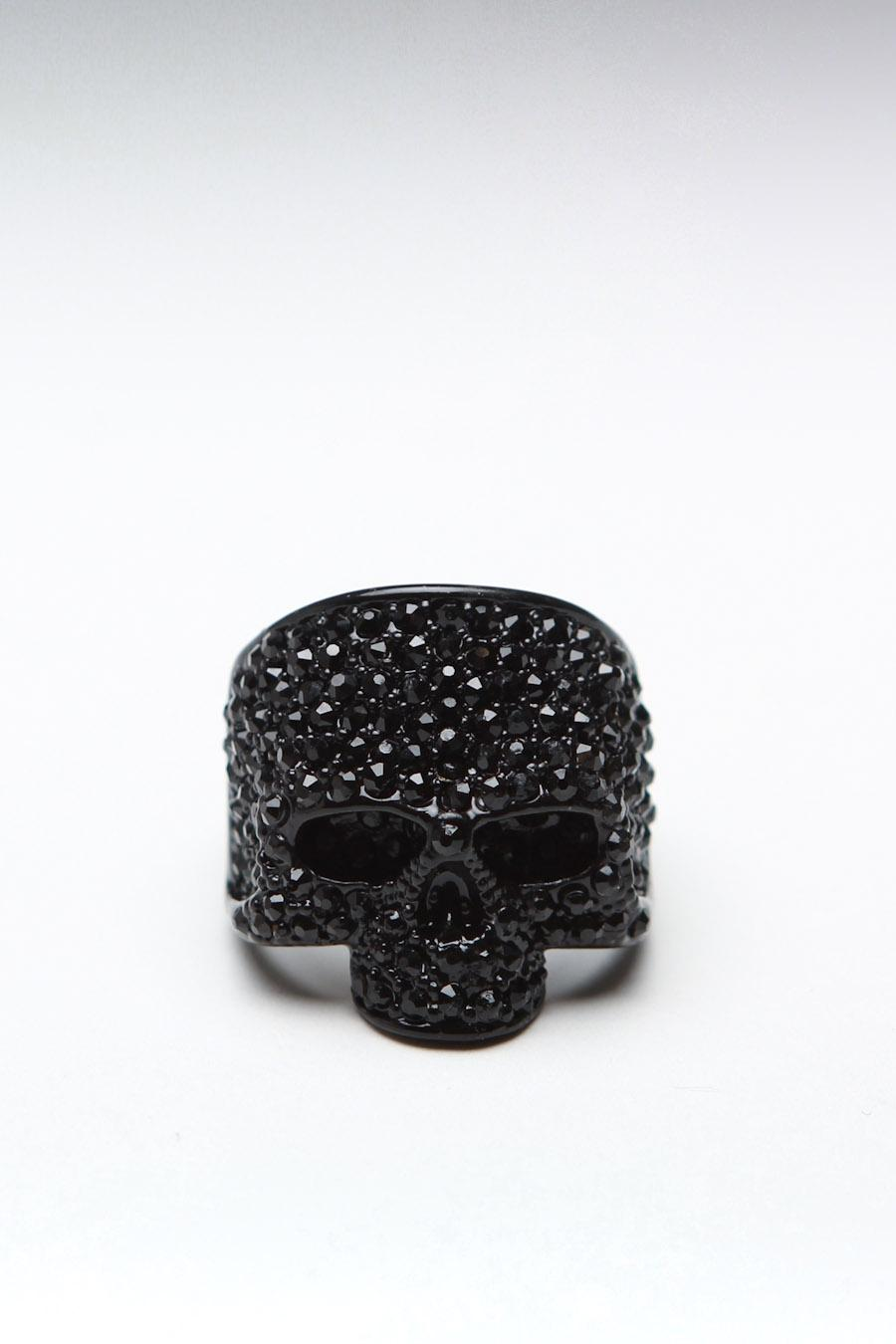 JackThreads - Skull Ring Black
