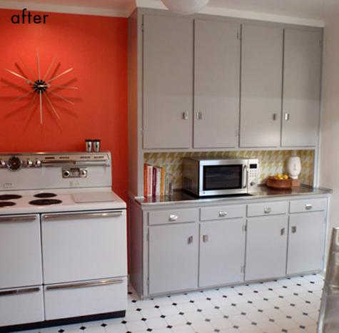 before & after: cecile's kitchen + tammie's chandelier | Design*Sponge
