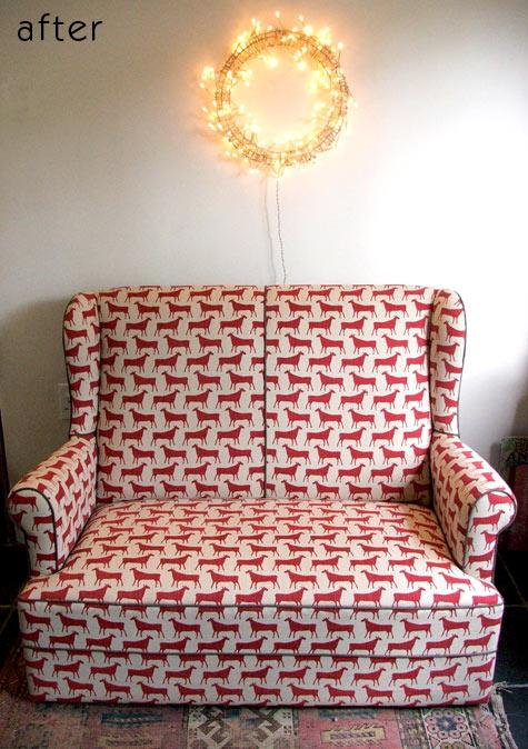 before & after: molly's sofa + lisa's dog house | Design*Sponge