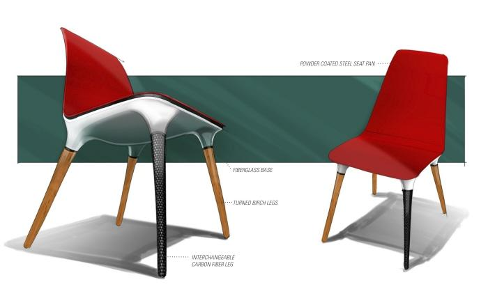 Monkee Design - Industrial Design Blog/ Student Resource - Tres Chair - Emmanuel Carrillo