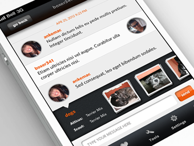 iPhone App - Chat by Anke Mackenthun
