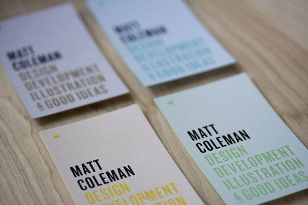 FPO: Matt Coleman Business Cards