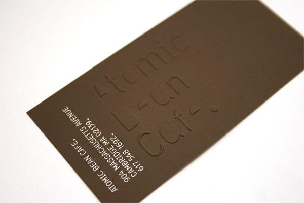 FPO: Atomic Bean Cafe Business Card