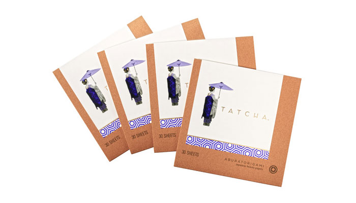 Tatcha Aburatorigami Japanese Beauty Papers - TheDieline.com - Package Design Blog