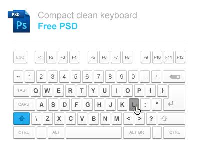 Compact Keyboard Free PSD by Ondrej Lechan