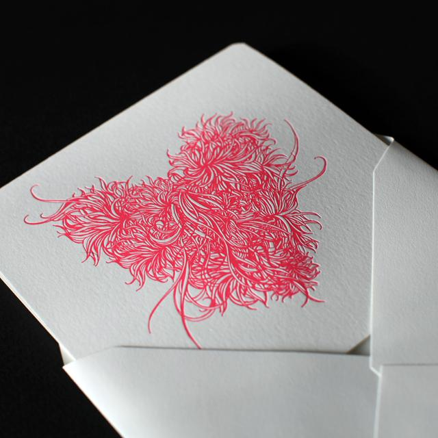 Heart Letterpress Card - Linn Olofsdotter | Illustrator