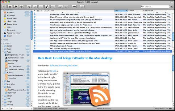 Google Reader Mac Apps Collection [Free and Paid]