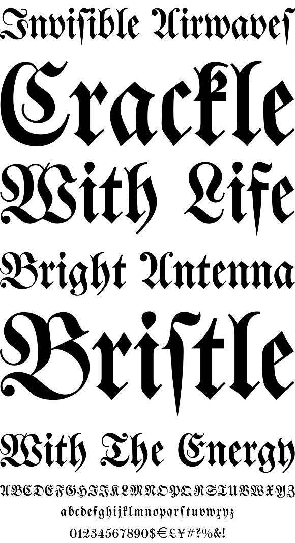 Walbaum Fraktur by URW++ - Desktop Font, WebFont and Mobile Font - YouWorkForThem