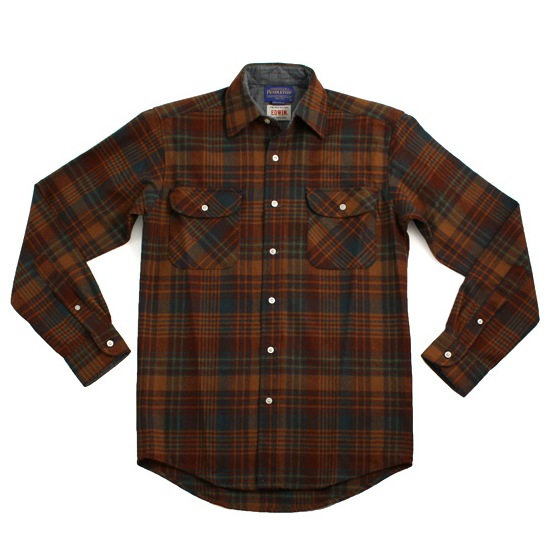 Pendelton x Edwin Shirt in Brown discount sale voucher promotion code | fashionstealer