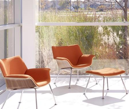 Orange Swoop Chairs | House & Home