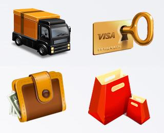 Shopping Icon Set - Icon Design - Creattica