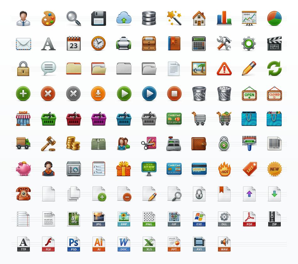 Application Toolbar Icon Set | Web Icon Set