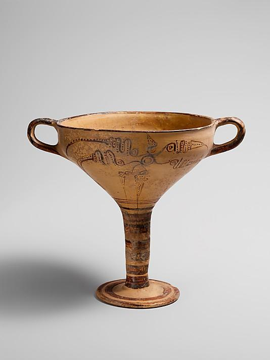 The Metropolitan Museum of Art - Terracotta stemmed cup with murex decoration