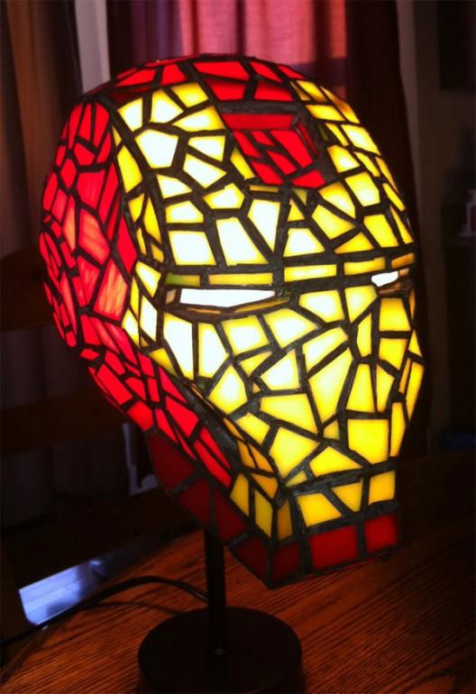 Stained Glass Iron Man Lamp | WHATTHECOOL