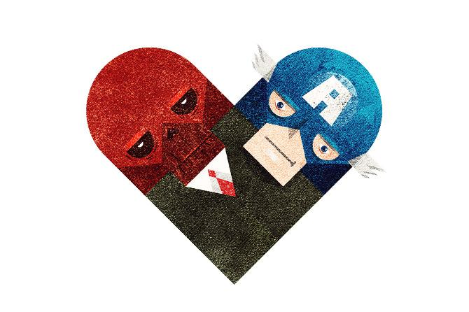 Love and Hate Versus Hearts by Dan Matutina | inspirationfeed.com