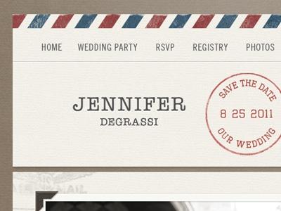 Designspiration — Dribbble - Air Mail Wedding Invite by Dave Ruiz
