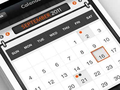 iPhone App - Calendar by Anke Mackenthun