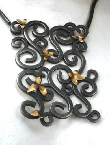 Wrought Panel Pendant with Flowers | Flickr - Photo Sharing!