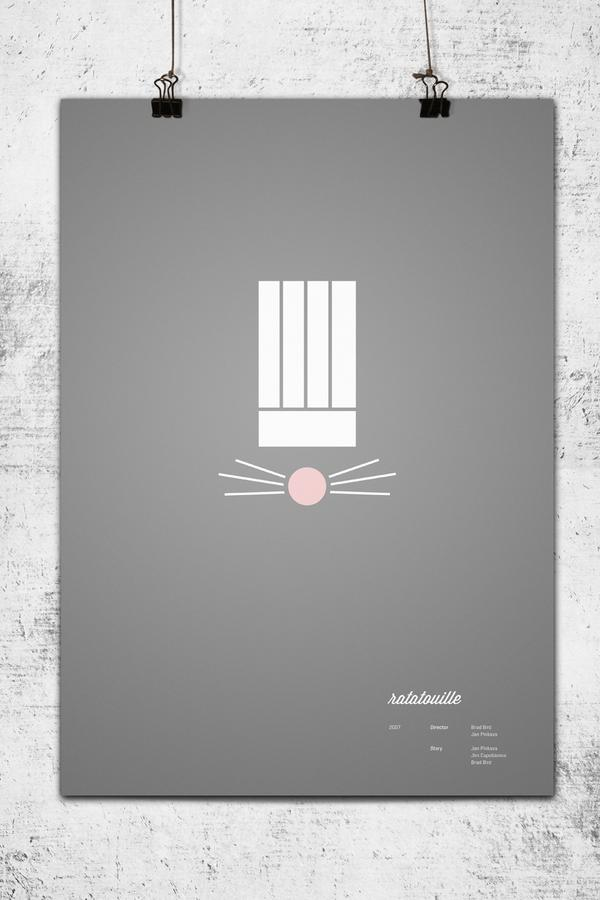 Minimalistckie posters for Pixar (Internet magazine ETODAY)