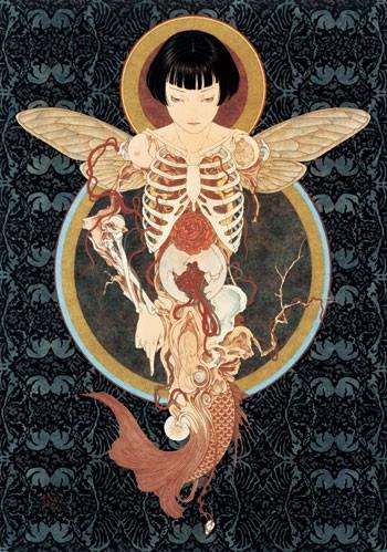 illustrazioni,art,women,illustration,print,japan-21453a4b71501692390922103090d6f0_h.jpg (JPEG-Grafik, 350×499 Pixel)
