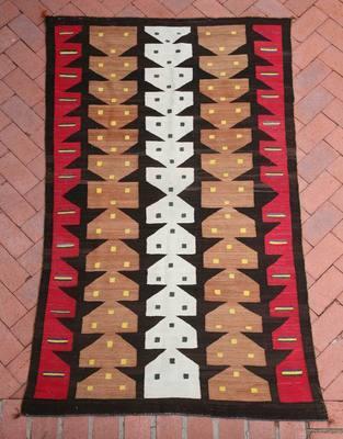 Pictorial Navajo Rugs, - Navajo Cornstalk Pictorial Textile