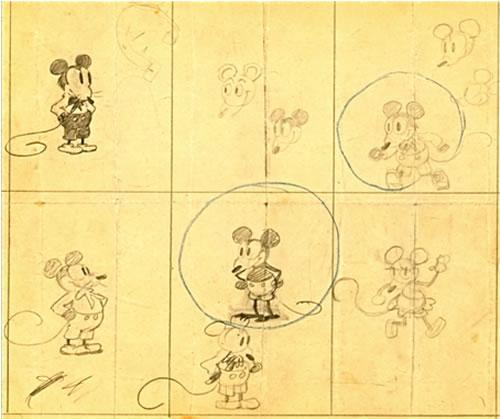 The Earliest Known Sketches of Mickey Mouse