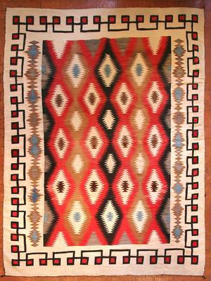 Red Mesa Navajo Rugs, - Navajo Red Mesa Textile