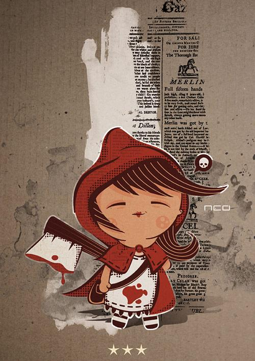 A Collection of Red Riding Hood Artworks
