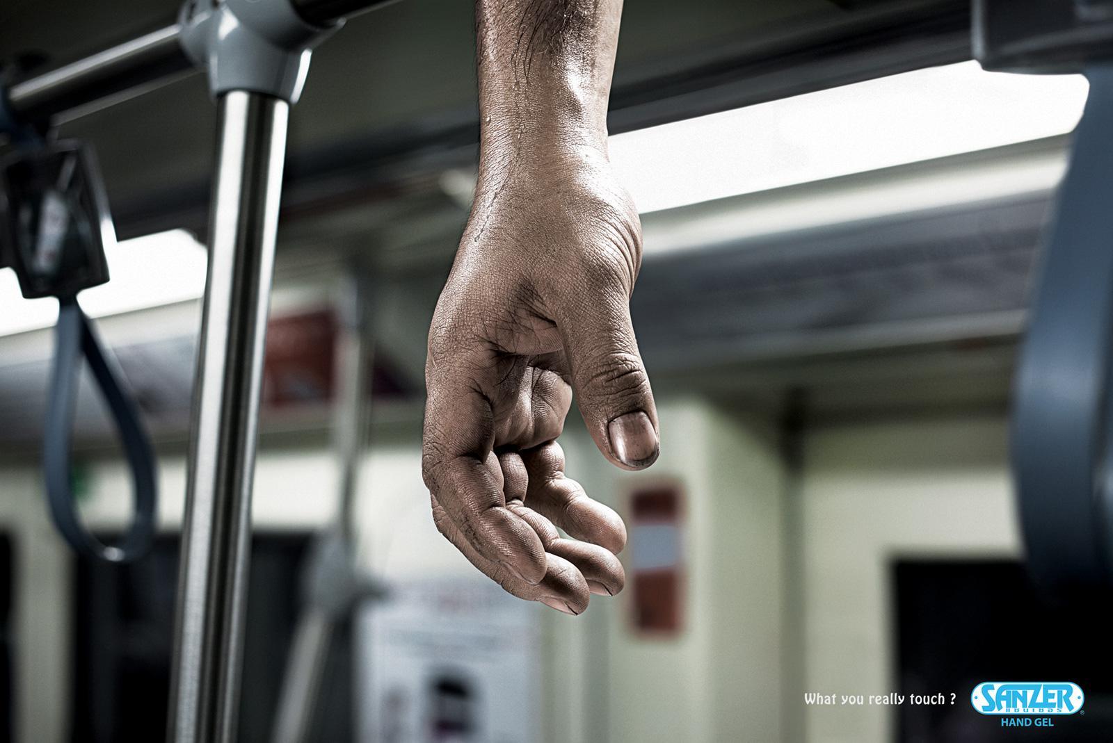 Sanzer hand gel: Subway | Ads of the World™