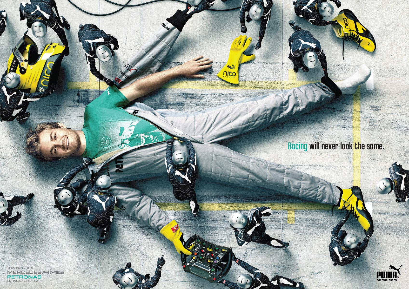 PUMA Mercedes AMG Collab: Rosberg | Ads of the World™