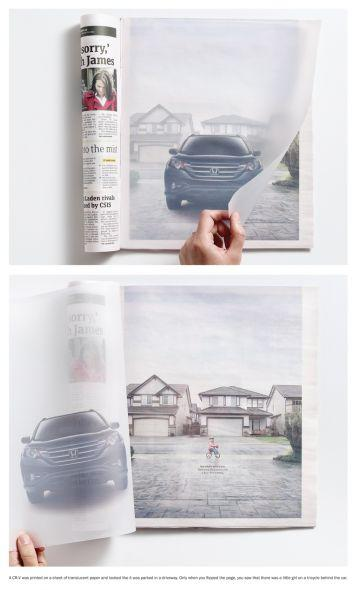 Honda CR-V: Translucent paper | Ads of the World™