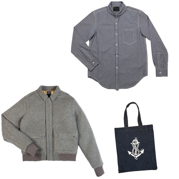 Blue De Paname Sport Jacket | YMC Railroad Shirt | APC Anchor Bag discount sale voucher promotion code | fashionstealer