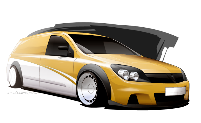 Vauxhall Astra van by Michael Gillett at Coroflot