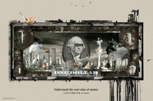 Gazeta Mercantil newspaper: Dollar | Ads of the World™