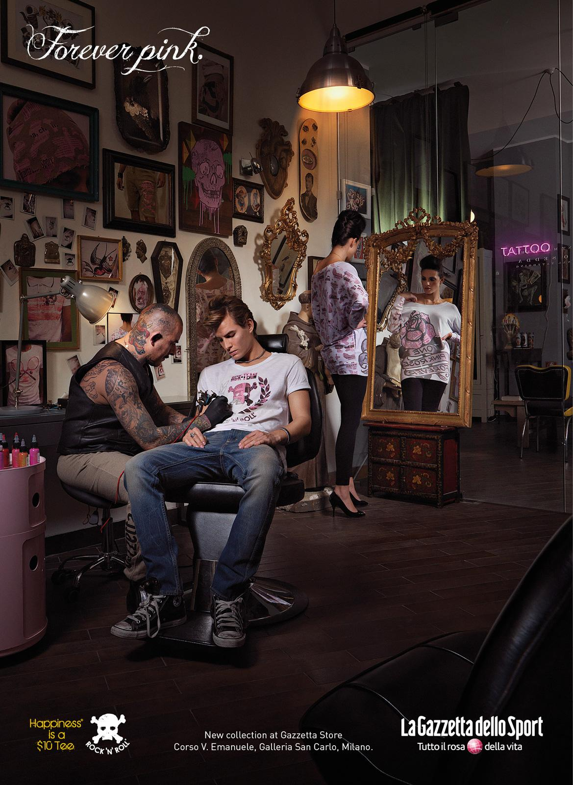 La Gazzetta dello Sport, Happiness is $10 Tee: Forever pink | Ads of the World™