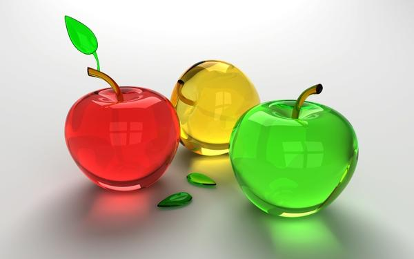 CGI,glass glass cgi apples glass art 1600x1000 wallpaper – Apple Wallpaper – Free Desktop Wallpaper