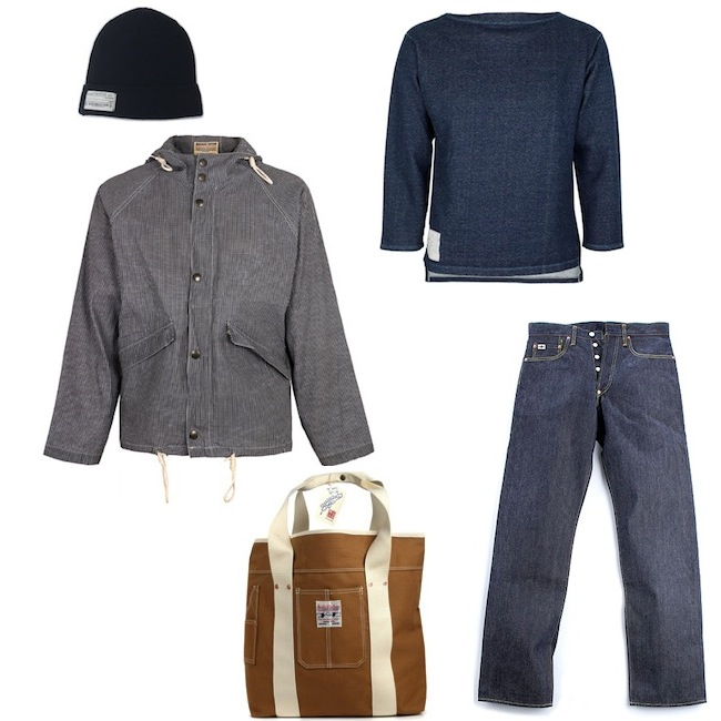 Nigel Cabourn Aircraft Jacket Navy Check | Mister Freedom Boating Jersey Indigo | Studio D'Artisan D01 Original Model | Real McCoys Watch Cap | Studio D'Artisan Cotton Duck Tote Bag discount sale voucher promotion code | fashionstealer