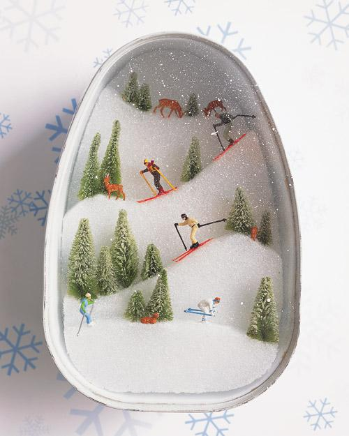 Ski Slopes Diorama - Martha Stewart Crafts