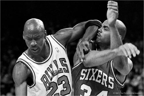 Michael Jordan and Charles Barkley.