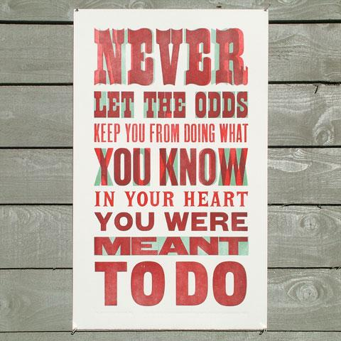 Typeverything.com 'Never Let the Odds'... - Typeverything